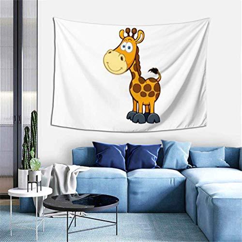 N\A Tapiz de Pared Vector de Dibujos Animados de Jirafa Lindo en Tapiz Blanco Colgante de Pared Tapiz Colorido Decoración de Arte de Pared para Dormitorio Sala de Estar Dormitorio,