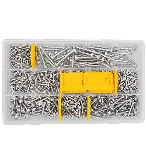 700 tlg Schrauben Sortiment Pan-Head Torx Vollgewinde verzinkt 3,5x20 bis 6x50