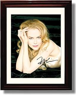 Framed Nicole Kidman Autograph Replica Print