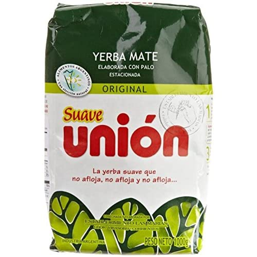 Amazon.com : Union Yerba Mate Con Palo (Suave) 1kg / 2.2lb 2 Pack : Grocery & Gourmet Food