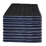 Muxel Carbon Tuch 10 Stück Glaspoliertuch Streifenfrei Fenstertuch Mikrofasertuch