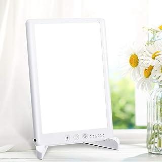 Lampe de lumière du jour 10000 Lux, lampe de luminothérapie SOLMORE contre la dépression, fonction de mémoire et support d...
