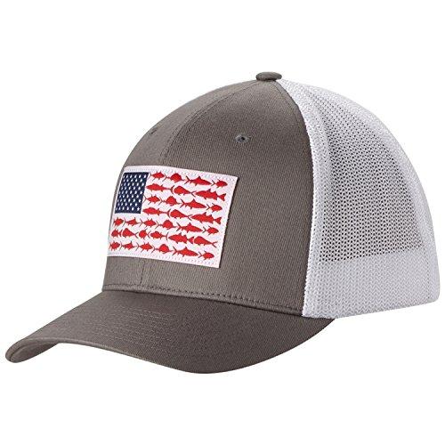 e8e0c9a37c1 Amazon.com   Columbia Men s PFG Mesh Ball Cap (Titanium Fish Flag ...