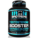 Testosterone Booster for Men with Estrogen Blocker - Anti-Estrogen Dietary Supplement - Natural Aromatase Inhibitor - Increase Libido & Strength 60 Capsules - Muscle Growth - Weight Loss