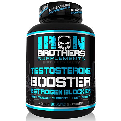 Testosterone Booster for Men with Estrogen Blocker - Natural Anti-Estrogen Supplement to Increase Libido & Strength - Boost Muscle Growth & Weight Loss - Indole 3 Carbinol & Tribulus -60 Capsules