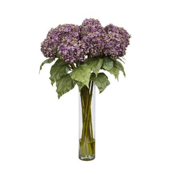 Hydrangea w/Cylinder Silk Flower Arrangement