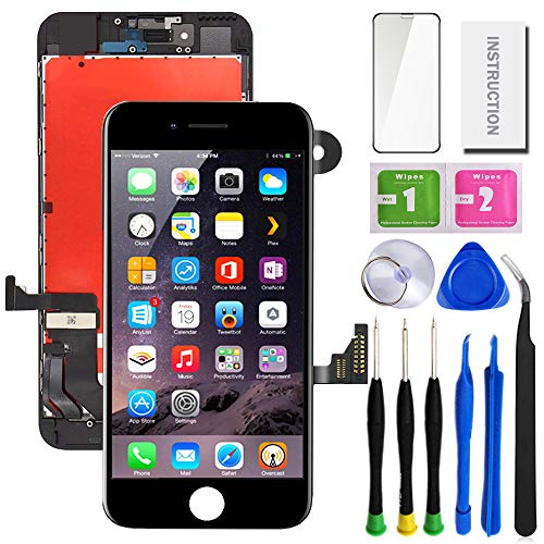 "SunlerPro for iPhone 7Plus Black Screen Replacement 5.5"",LCD Display & Touch Screen Digitizer with 3D Touch Full Assembly Set for iPhone 7plus 5.5 inch with Repair Tool kit"