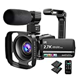 Video Camera Camcorder 2.7K Ultra HD YouTube Vlogging Camera 36MP IR Night Vision Digital Camera...
