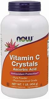 Now Supplements, Foods Vitamin C Crystals, Ascorbic Acid, 1-Pound