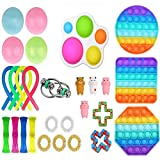 Paquete de juguetes sensoriales Fidget baratos para niños o adultos, FigetgetsToys Pack Figit Toys con SimplesDimples Fidget Toy, Juguetes para aliviar la ansiedad Kill Time (Push Its Dimple Toy)