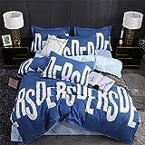 LYJZH Bettbezug Set, Super Weiche und Angenehme Mikrofaser Einfache Bettwäsche Set Vier Sätze langstapelige Baumwollfarbe12 2,2 m auf dem Schleifbett