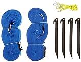 Park & Sun Sports Cinta de delimitación Terreno 2,5 cm, Color Azul