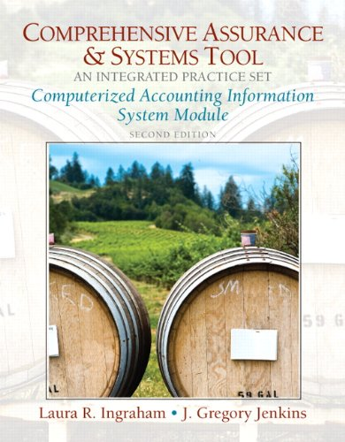 Computerized Practice Set for Comprehensive Assurance & Systems Tool (CAST)-Integrated Practice Set (2nd Edition) (Pears