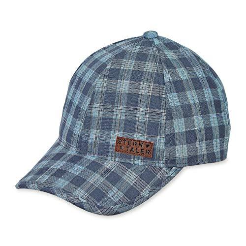 Sterntaler Baseball-Cap für Jungen mit Größenregulierung und Karomuster, Alter: 12-18 Monate, Größe: 49, Blau (Marine)