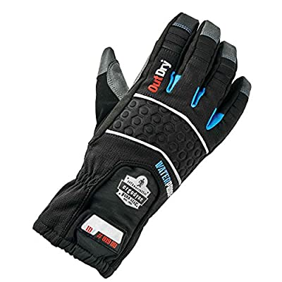 Ergodyne ProFlex 819OD Extreme Thermal Waterproof Gloves with Outdry, Small, Black