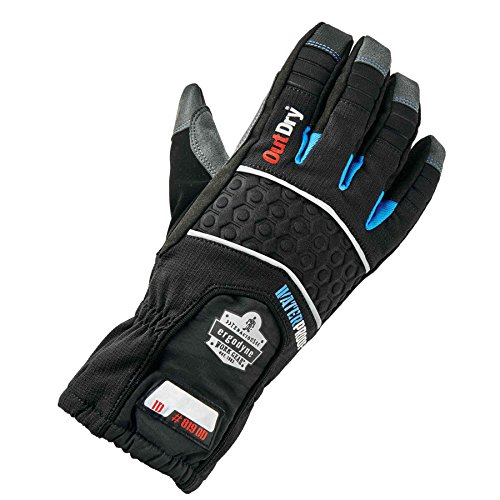 Ergodyne ProFlex 819OD Extreme Thermal Waterproof Insulated Work Gloves with OutDry, Touchscreen Capable, Black, Large