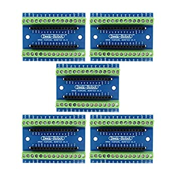 Aideepen 5pcs Nano Screw Terminal Adapter Shield Expansion Board Nano V3.0 AVR ATMEGA328P-AU Module for Arduino