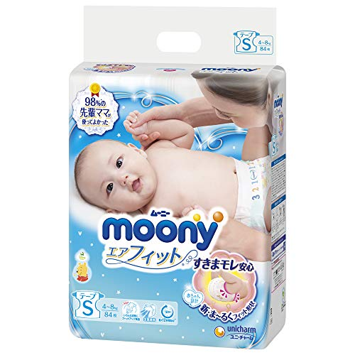 Pannolini Moony S (4-8 kg)// Japanese diapers Moony S (4-8 kg)// Японские подгузники Moony S (4-8 kg)