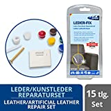 1-2-3REPAIR Set de reparación de cuero vinilo y piel sintética 7 colores - Kit reparación tapizados piel