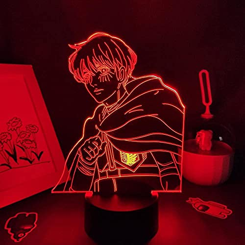 Luz nocturna 3D para niños, figura de anime, 3D, LED, manga, RGB, dormitorio, mesa, decoración de mesa, 16 colores, se pueden controlar a distancia