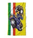 KOOLART Valentino Rossi Y a m a h a Moto GP Serviette de Plage XL 140 x 70 cm - 1777