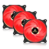Antec 120mm pc Fan with Red LED Low Noise High airflow for Computer