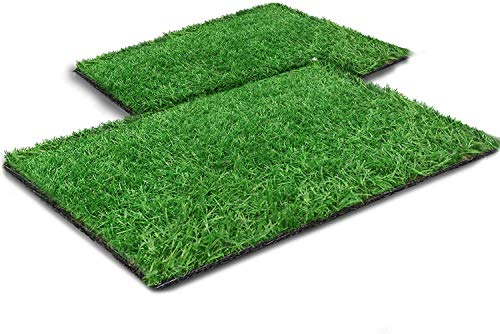 Fortune-star Artificial Turf for Dogs Professional Dog Grass Mat Fake Turf with Drain Outlet Easy Clean for Training Indoor Terrace Lawn Decoration