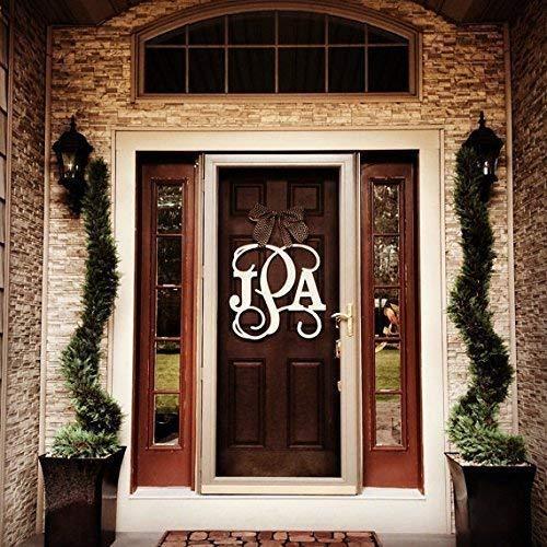 Custom Monogram Super popular specialty store Letter Animer and price revision Wooden Hanger Door Wreath