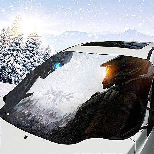 MaMartha Car Windshield Snow Cover Spiele EIS und Feuer Halo Guardians Auto Windschutzscheibe Schneedecke,Auto Sonnenschutz,Eisentfernung Sonnenschutz für den Winterschutz Verhindern Sie Kratzer