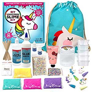 Unicorn Slime Kit Supplies for Girls- DIY Stuff and Activator for Fluffy Cloud Floam Butter Slime