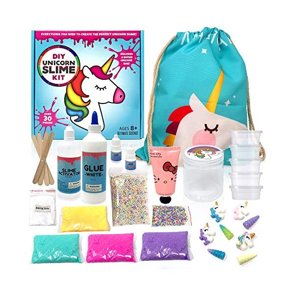 Unicorn Slime Kit Supplies for Girls- DIY Stuff and Activator for Fluffy Cloud Floam Butter Slime 3