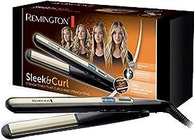 Remington Sleek & Curl prostownica (zaokrąglona konstrukcja do wygładzania i stylizacji loków i fal wysokiej jakości...