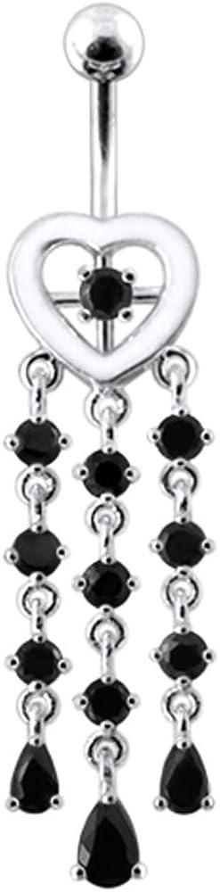 AtoZ New mail order Piercing Fancy Chandelier Heart 925 Silve 25% OFF Sterling Dangling