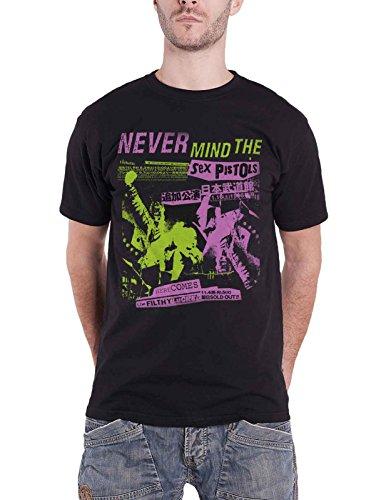 The Sex Pistols T Shirt Filthy Lucre Japanese Concert Poster offiziell Herren