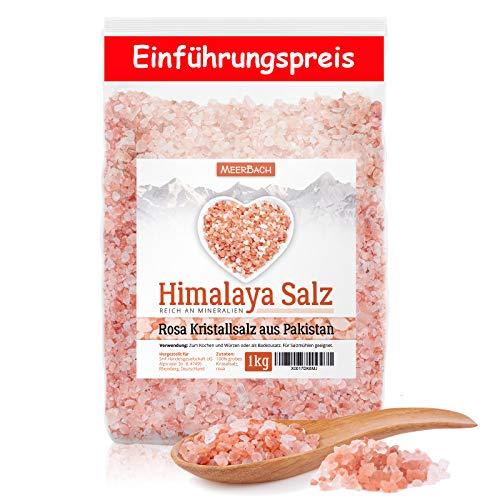 Himalaya Salz – rosa Kristallsalz – 1kg grobes Salz für die Salzmühle – Pink Salt - Badesalz - Salz aus Punjab Pakistan in Premiumqualität