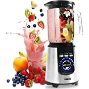 Duronic Electric Blender BL1200   Stainless-Steel Blades   1.8 Litre Tritan Jug   Powerful 1200W Motor   Auto-Clean Function   Blends To Make Smoothies Shakes Soups Sauces Crushes Ice