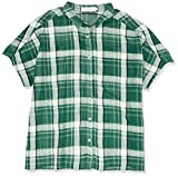 [ゴールデンベア] 半袖チェックシャツ472W5326 レディース 472W5326 グリーン 日本 4L (日本サイズ4L相当)