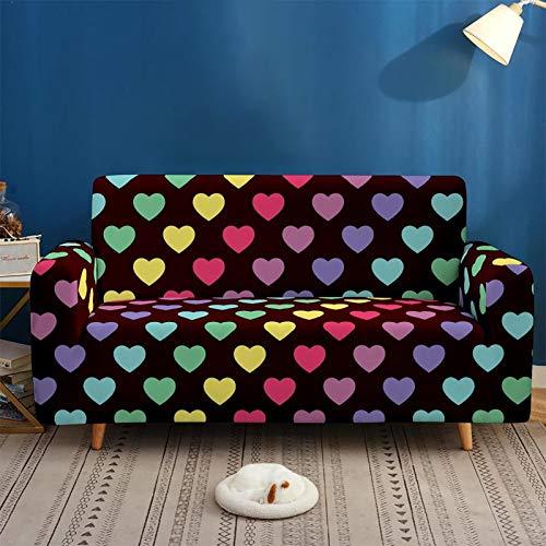 Funda Elástica de Sofá Funda Estampada para sofá Antideslizante Protector Cubierta de Muebles (2 Plazas, Impresión) B,3seater