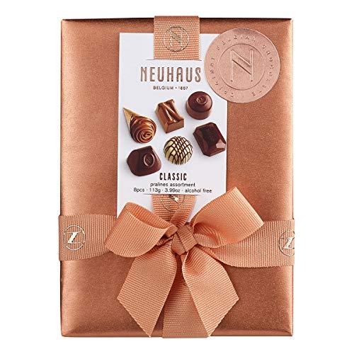 Neuhaus Belgian Chocolate Classic Pralines Assortment Ballotin - 8 piece - 1/4 lb - Premium Chocolate Gift Ballotin Box - Gourmet Chocolate