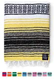 Mexican Blanket, Falsa Blanket | Authentic Hand Woven Blanket, Serape, Yoga Blanket | Perfect Beach Blanket, Navajo Blanket,...