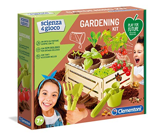 Clementoni - 19153 - Scienza E Gioco - Gardening Kit - Made In Italy - Play For Future - Gioco Laboratorio Scientifico Per Bambini Dai 7 Anni, Italiano, Multicolore