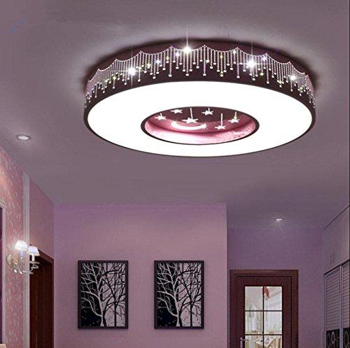GFFORT Kinderzimmerlampe LED-Deckenleuchte für Jungen und Mädchen und Begrüßungsräume Licht Energie Licht Star Moon Auge Pflege Kinderlampen (400mm * 90mm), weißes Licht , B