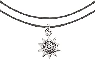 Barogirl Sun Choker Necklace String Bohemian Charm Layered Necklaces for Women and Girls (Black)