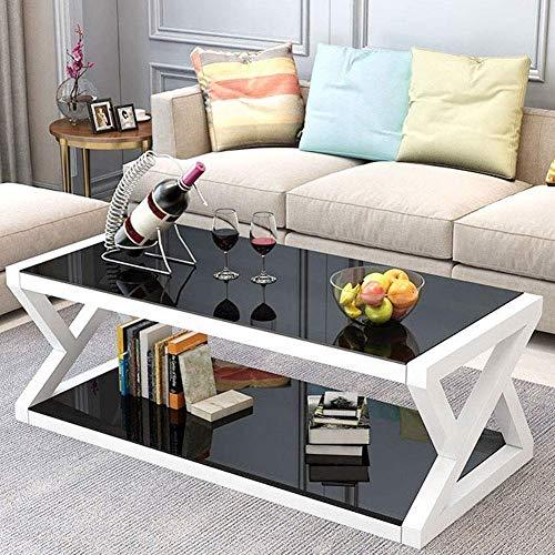 Tavolino da caffè moderno multifunzionale in vetro temperato per uso domestico Tavolino da Salotto con Cassetti mobili per la casa