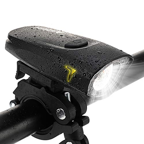 Antimi LED Fahrradlicht Frontlicht, StVZO Zugelassen USB Wiederaufladbar Fahrradbeleuchtung Fahrradlampe IPX4 Wasserdicht mit Samsung 1100mAh Li-ion Akku