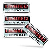 SkinoEu® 4 pcs 3D Gel Silicone Stickers Pegatinas Limited Edition Silicona Adhesivo Autos Coches Motos Ciclomotores Bicicletas Ordenador Portátil KS 132