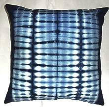 Indigo Cushion Cover, Decorative Throw, Tie Dye Pillow Cases, Boho Indian Outdoor Cushions, Shibori Boho Pillow Shams