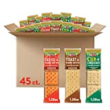 Keebler Sandwich Crackers 3 Flavors Variety Pack - Kids School Lunch Items in Individual Serving...