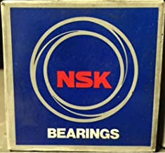 72mm OD NSK 6306 Deep Groove Ball Bearing Pressed Steel Cage 30mm Bore Metric Normal Clearance 6002lbf Dynamic Load Capacity Single Row Open 19mm Width 3372lbf Static Load Capacity 9500rpm Maximum Rotational Speed