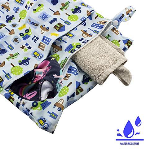 caseroxx luiertas/wetbag/luiertas met ritssluiting Premium 2-pocket strandtas voor baby's Auto patroon